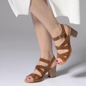 Wear once Clarks leather cushion comfort heels
